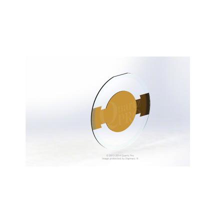 QCM 6 MHz 14 mm Cr/Au Custom