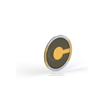QCM 5 MHz 14 mm Ti/Au  (compatible with Q-SENSE TM jig)